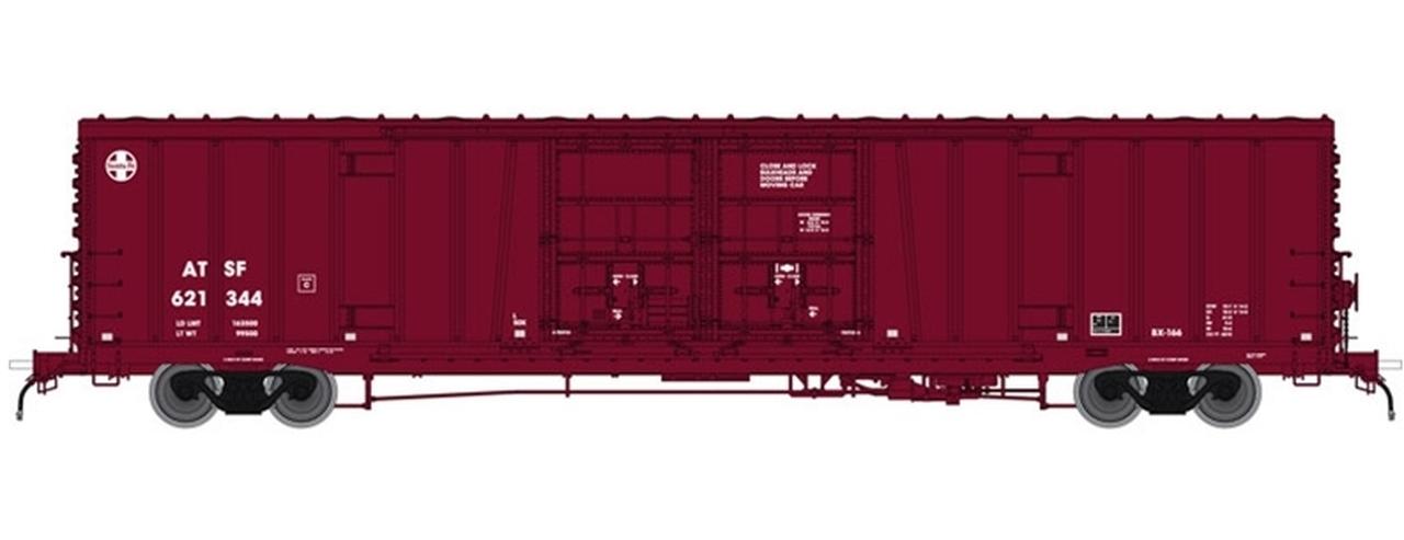 N Scale - Atlas - 50 004 060 - Boxcar, 62 Foot, BX-166 - Santa Fe - 621379