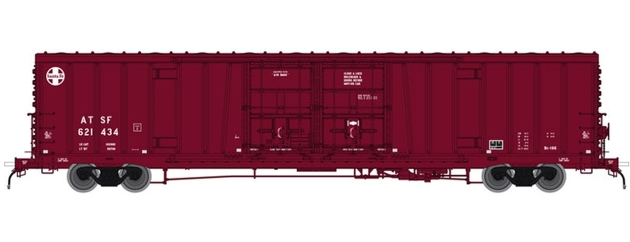 N Scale - Atlas - 50 004 068 - Boxcar, 62 Foot, BX-166 - Santa Fe - 621585