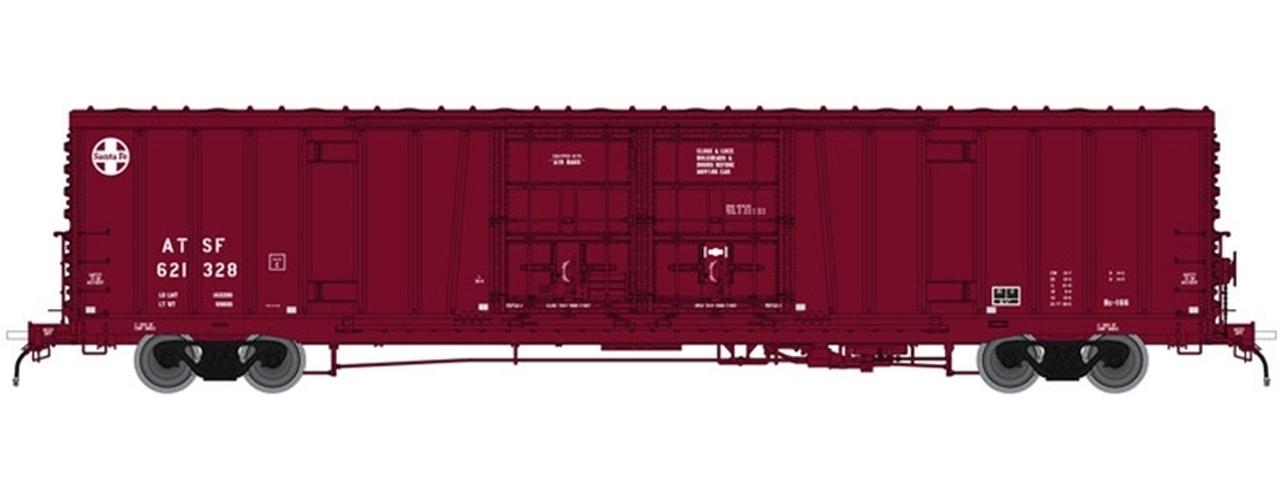N Scale - Atlas - 50 004 074 - Boxcar, 62 Foot, BX-166 - Santa Fe - 621596