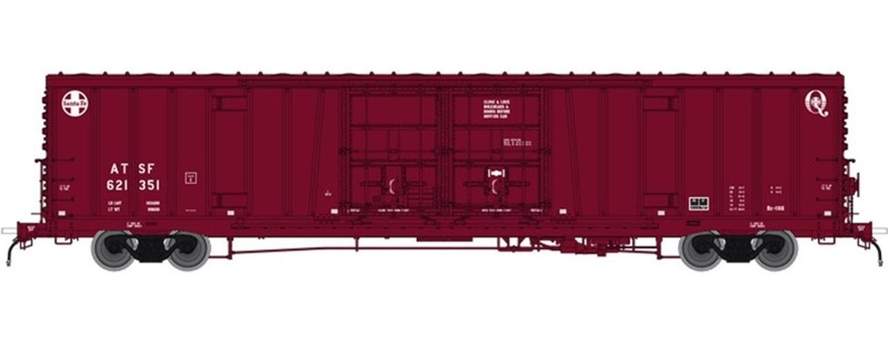 N Scale - Atlas - 50 004 077 - Boxcar, 62 Foot, BX-166 - Santa Fe - 621351
