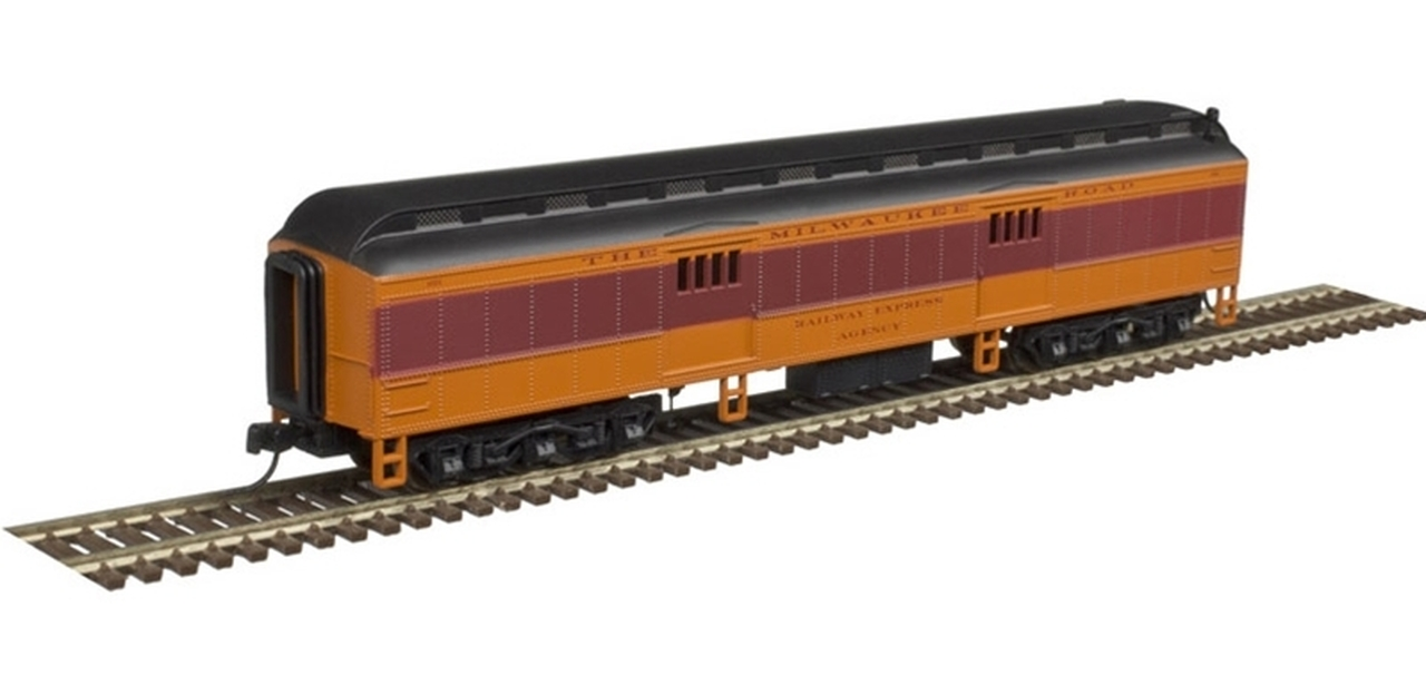 N Scale - Atlas - 50 004 197 - Passenger Car, Heavyweight, ACF Baggage - Milwaukee Road - 1043