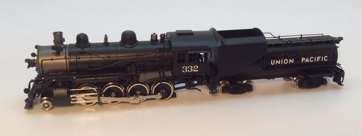 N Scale - Key - 115 - Locomotive, Steam, 2-8-0 Consolidation - Union Pacific - 332