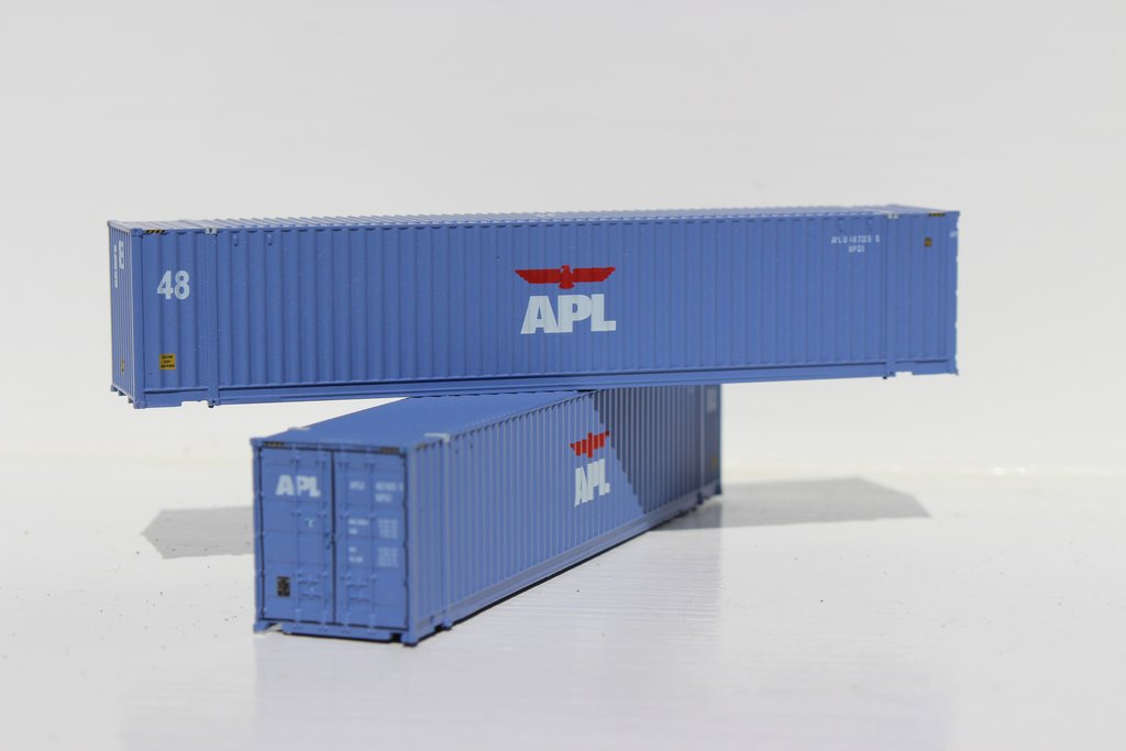 N Scale - Jacksonville Terminal - 485014 - Container, 48 Foot - APL Logistics - 487325, 487403