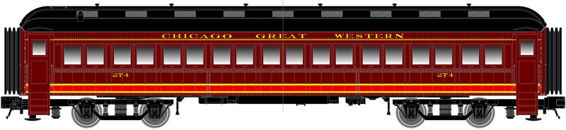 N Scale - Atlas -  50 005 106 - Passenger Car, Heavyweight, ACF Coach - Chicago Great Western - 274
