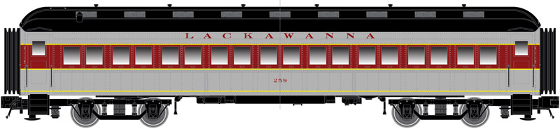 N Scale - Atlas -  50 005 109 - Passenger Car, Heavyweight, ACF Coach - Lackawanna - 252