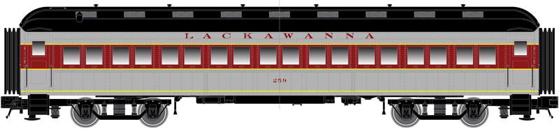 N Scale - Atlas -  50 005 110 - Passenger Car, Heavyweight, ACF Coach - Lackawanna - 260