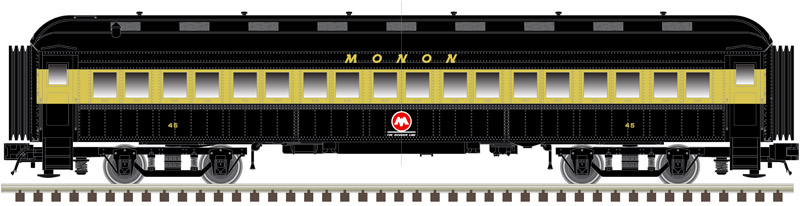 N Scale - Atlas -  50 005 117 - Passenger Car, Heavyweight, ACF Coach - Monon - 45