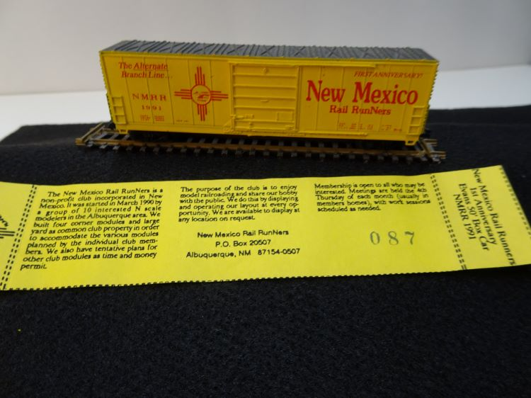 N Scale - Life-Like - TS SAN 91-03 - Boxcar, 50 Foot, Evans 5277 - New Mexico Rail RunNers - 1991