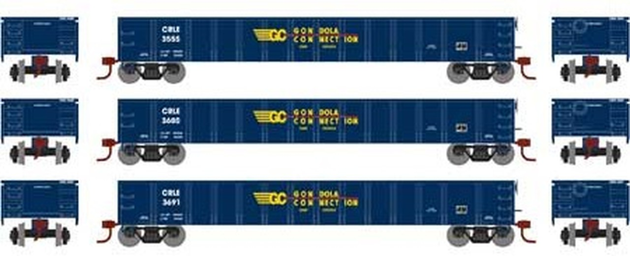 N Scale - Athearn - 1389 - Gondola, 52 Foot, Thrall 2743 - Gondola Connection - 3-Pack