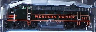 N Scale - Wheels of Time - 80002 - Locomotive, Diesel, EMD F7 - Western Pacific - 917