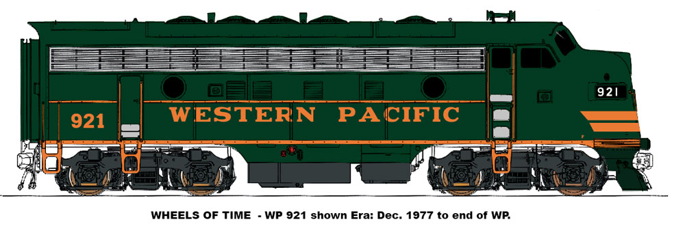 N Scale - Wheels of Time - 80004 - Locomotive, Diesel, EMD F7 - Western Pacific - 921
