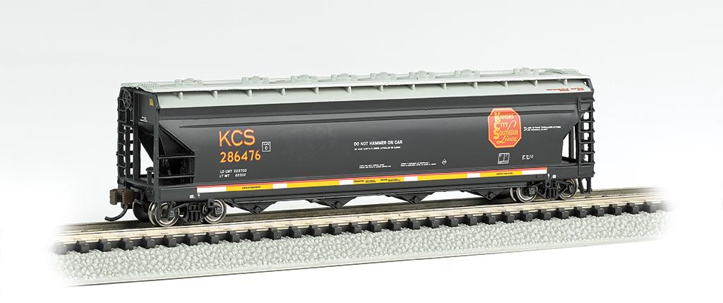 N Scale - Bachmann - 17556 - Covered Hopper, 4-Bay, ACF Centerflow - Kansas City Southern - 286476