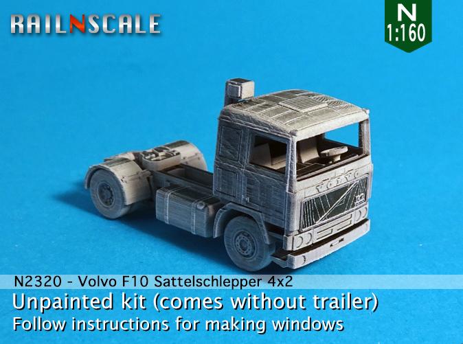 N Scale - RAILNSCALE - N2320 - Truck, Volvo, F10 - Undecorated