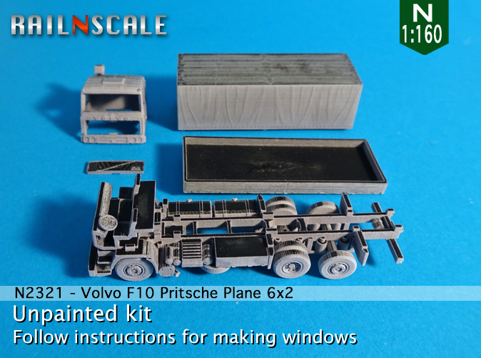 N Scale - RAILNSCALE - N2321 - Truck, Volvo, F10 - Undecorated