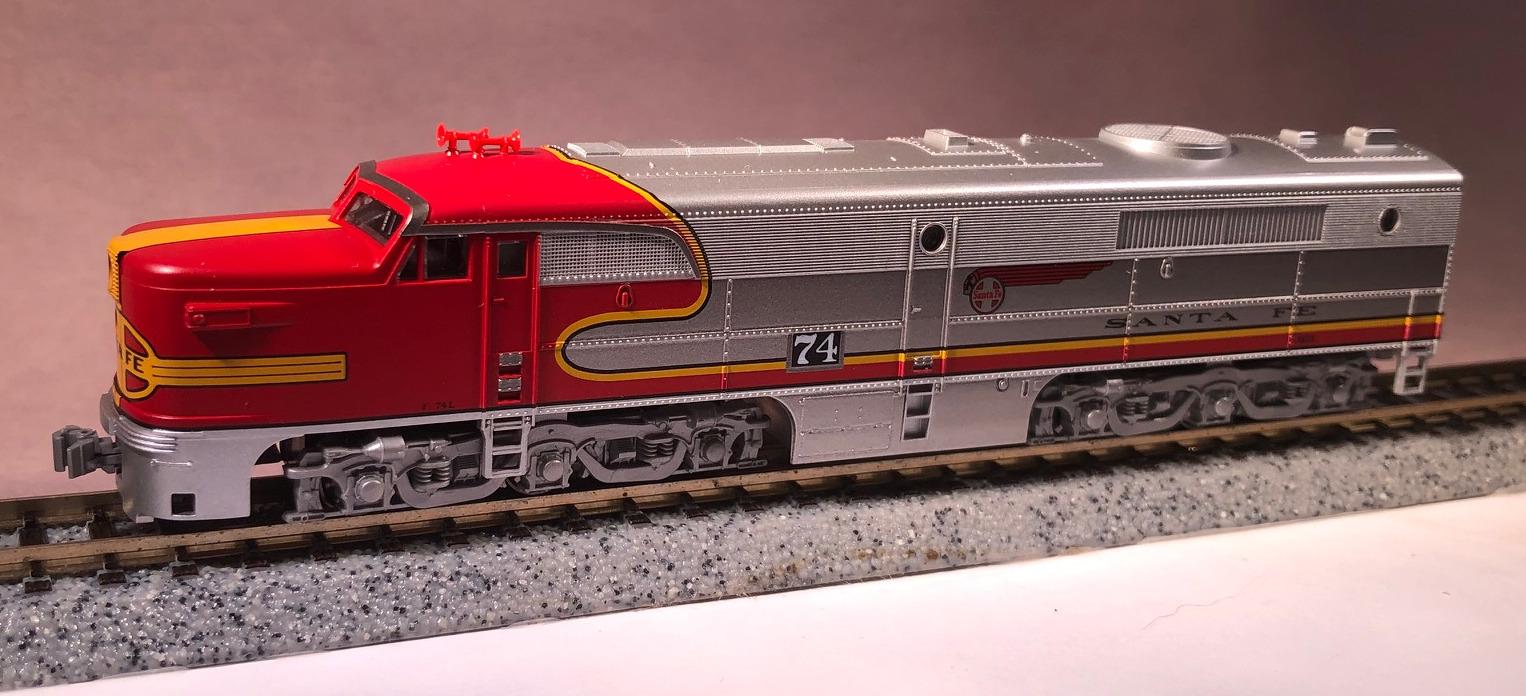 N Scale - Kato USA - 176-4121 - Locomotive, Diesel, Alco PA/PB - Santa Fe - 74L
