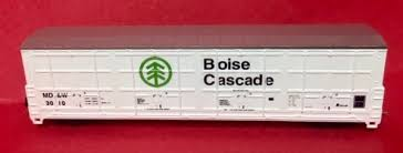 N Scale - Red Caboose - RN-17407-02 - Boxcar, 55 Foot, Thrall All-Door - Boise Cascade - 3015