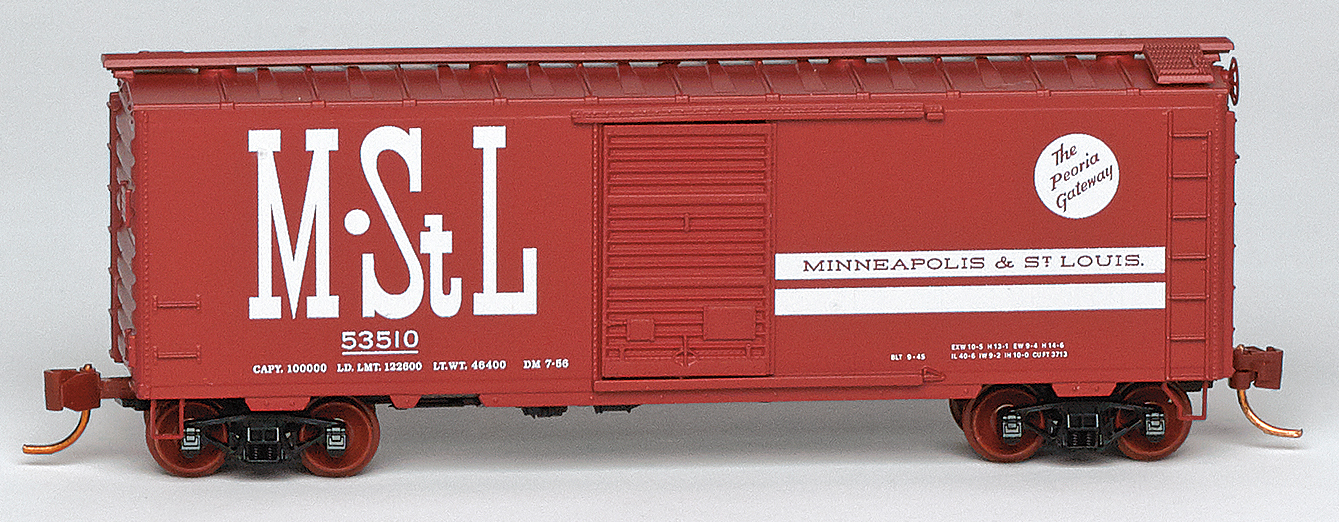 N Scale - Micro-Trains - NSE MTL 19-143 - Boxcar, 40 Foot, PS-1 - Minneapolis and St. Louis - 53510