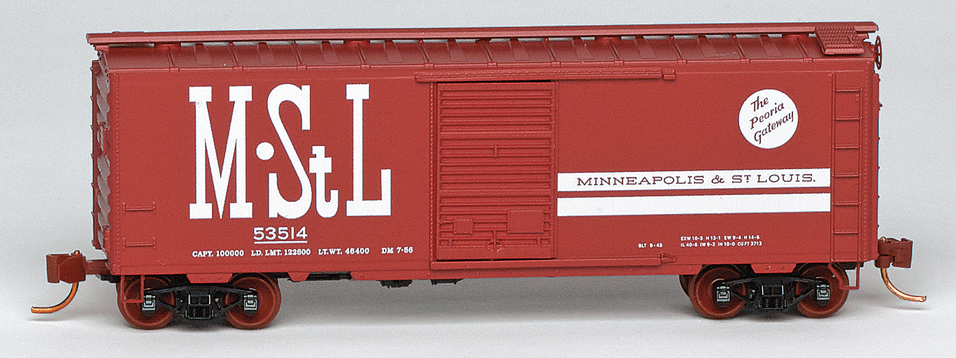 N Scale - Micro-Trains - NSE MTL 19-144 - Boxcar, 40 Foot, PS-1 - Minneapolis and St. Louis - 53514