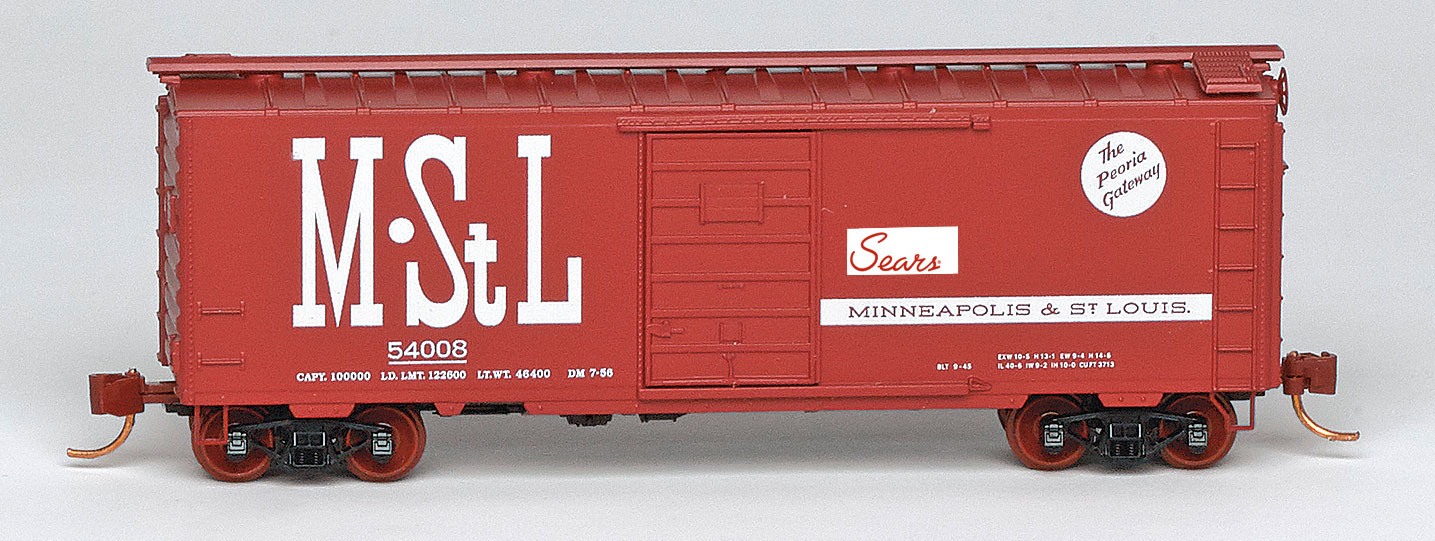 N Scale - Micro-Trains - NSE MTL 19-40 - Boxcar, 40 Foot, PS-1 - Minneapolis and St. Louis - 54008