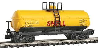 N Scale - Model Power - 83455 - Tank Car, Single Dome, 39 Foot - Shell Oil - 1108