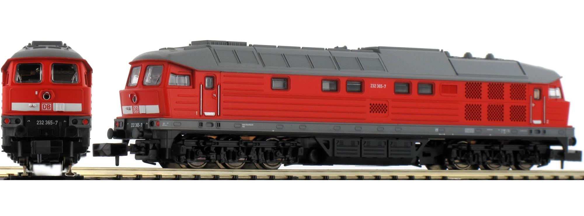 N Scale - Minitrix - 16233 - Locomotive, Diesel, DR 130 - Deutsche Reichsbahn (East Germany) - 232 365-7
