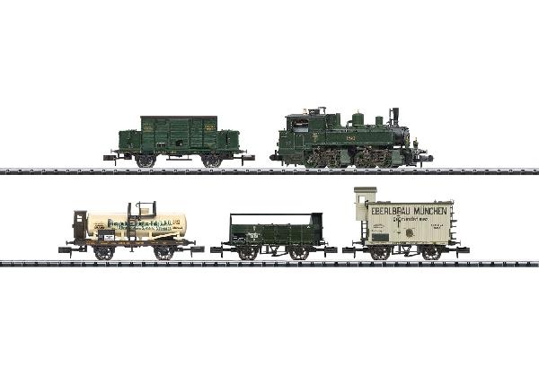 N Scale - Minitrix - 11632 - Freight Train, Steam, Europe, Epoch I - K.Bay.Sts.B. (Royal Bavarian State Railroad) - 5-Unit