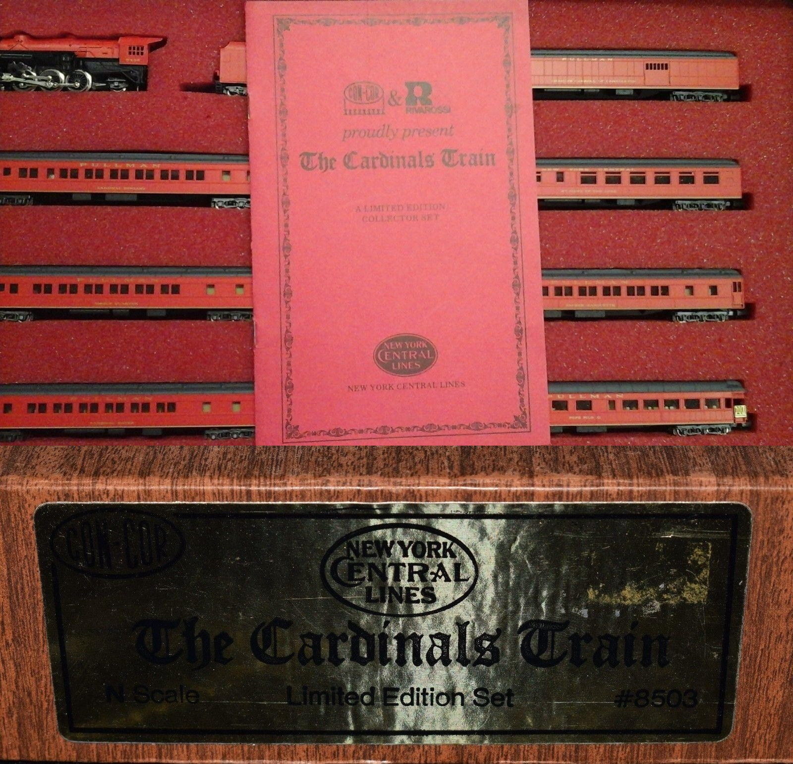 N Scale - Con-Cor - Limited Edition Set #22 / 8503 - Passenger Train, Steam, North American, Transition - New York Central - 8-Unit