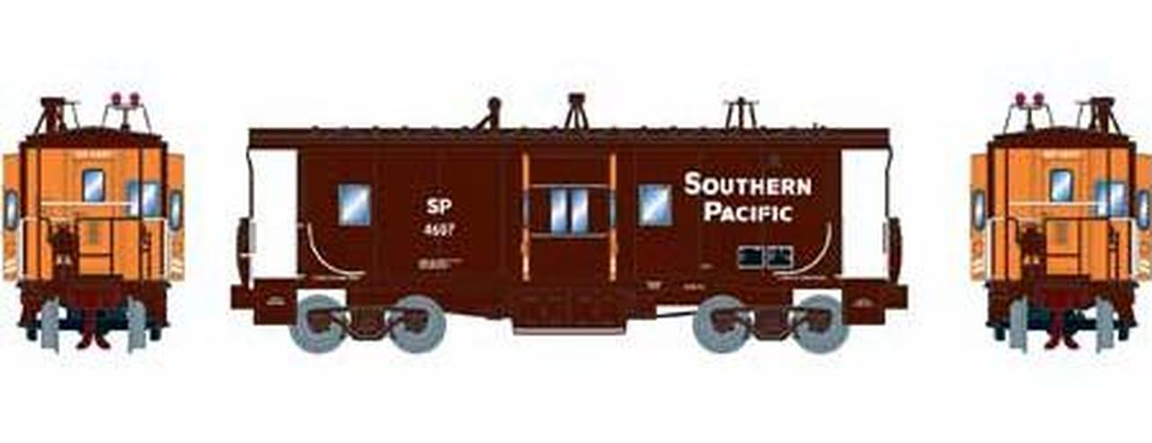 N Scale - Athearn - 26708 - Caboose, Bay Window - Southern Pacific - 4633