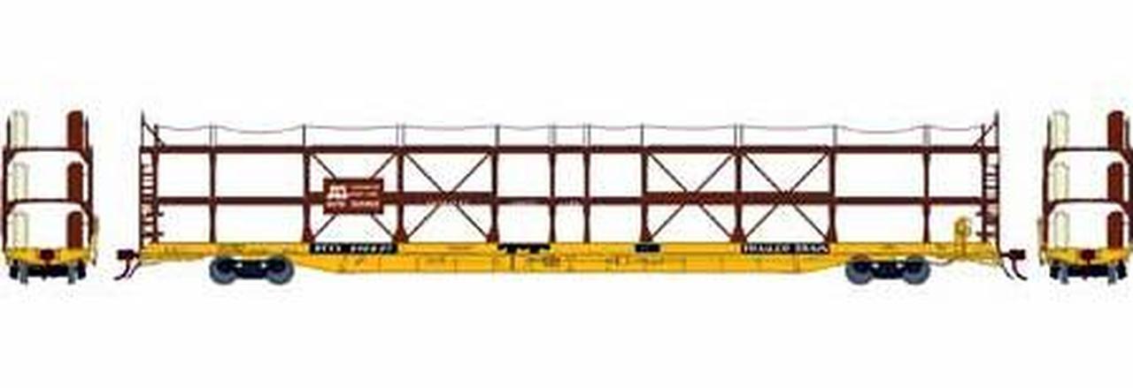 N Scale - Athearn - 14414 - Autorack, Open, F89F Tri-Level - Norfolk & Western - 913075