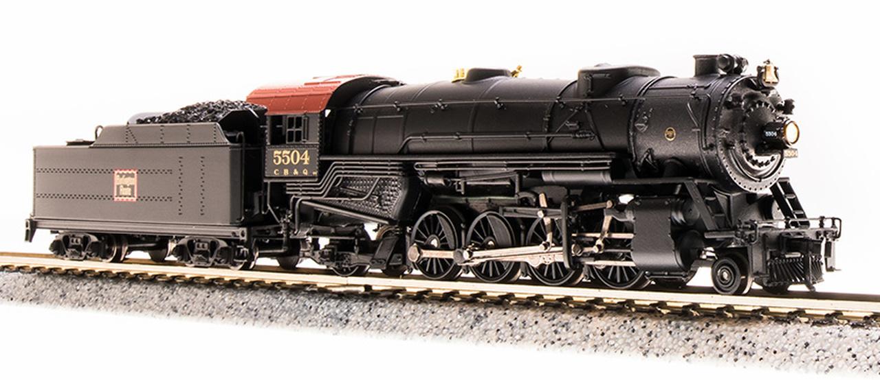 N Scale - Broadway Limited - 5703 - Locomotive, Steam, 2-8-2 Heavy Mikado - Burlington Route - 5506