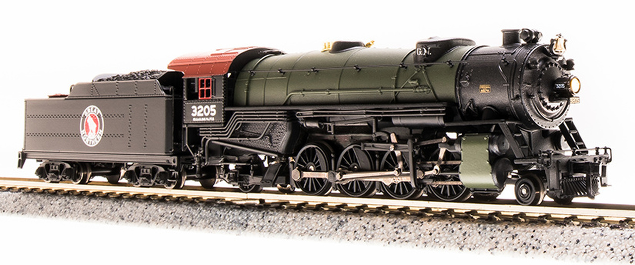 N Scale - Broadway Limited - 5707 - Locomotive, Steam, 2-8-2 Heavy Mikado - Great Northern - 3206