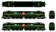 N Scale - Broadway Limited - 3447 - Locomotive, Electric, GG1 - Pennsylvania - 4821