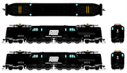 N Scale - Broadway Limited - 3450 - Locomotive, Electric, GG1 - Penn Central - 4824
