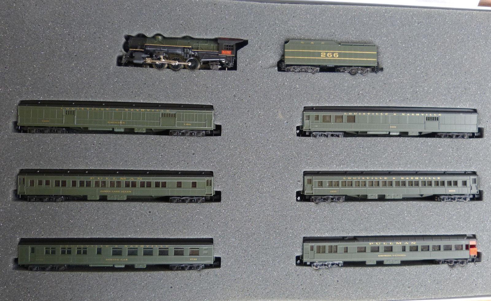 N Scale - Con-Cor - Limited Edition Set #37 / 8519 - Passenger Train, Steam, North American, Transition - Louisville & Nashville - 7-Unit