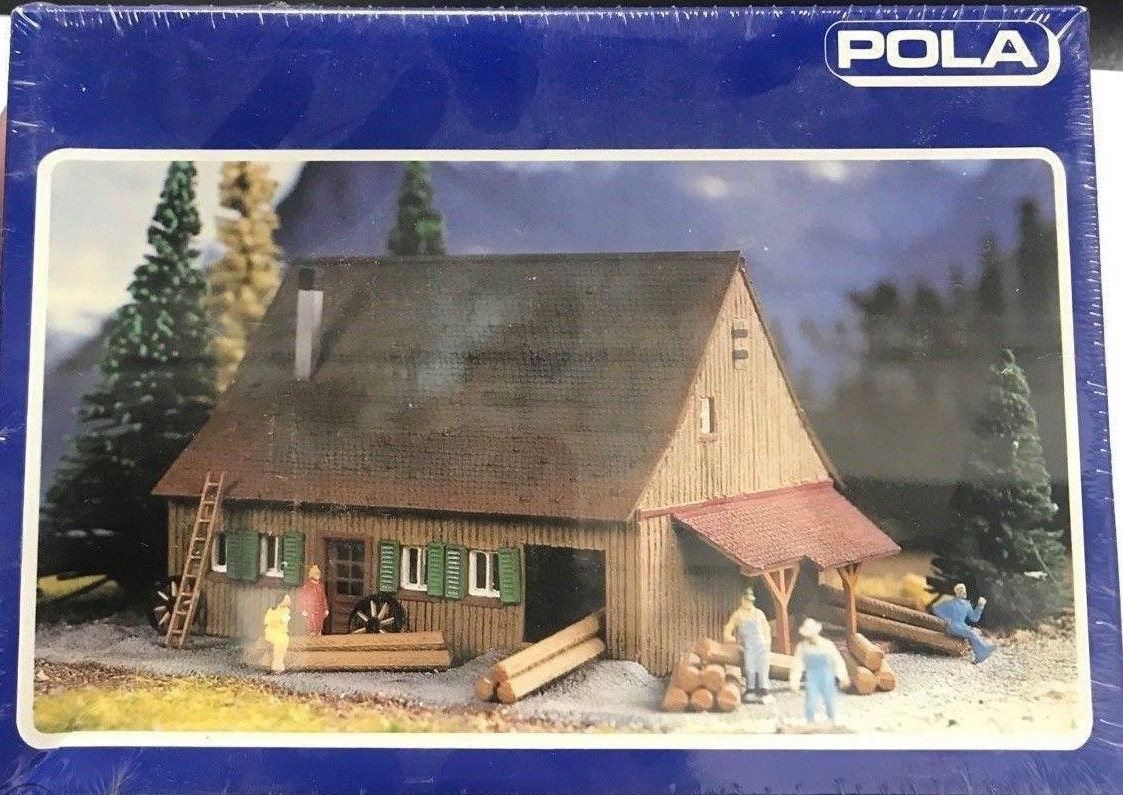 N Scale - Pola - 243 - House - Residential Structures - Lumber Mill