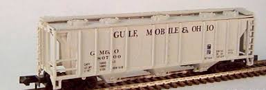 N Scale - JnJ - 9302 - Covered Hopper, 3-Bay, PS2 2893 - Gulf Mobile & Ohio - 80700