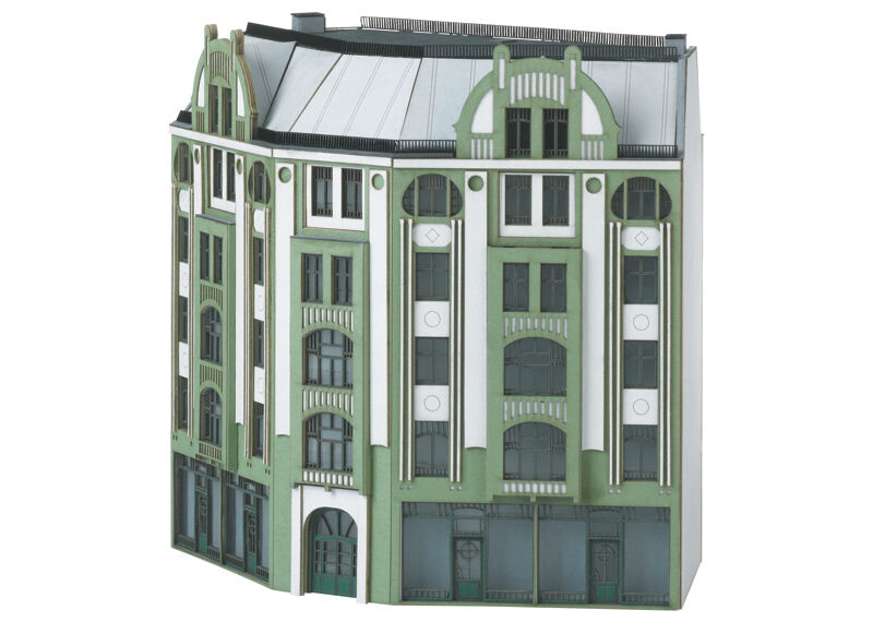 N Scale - Minitrix - 66309 - Row House - Residential Structures - Row House