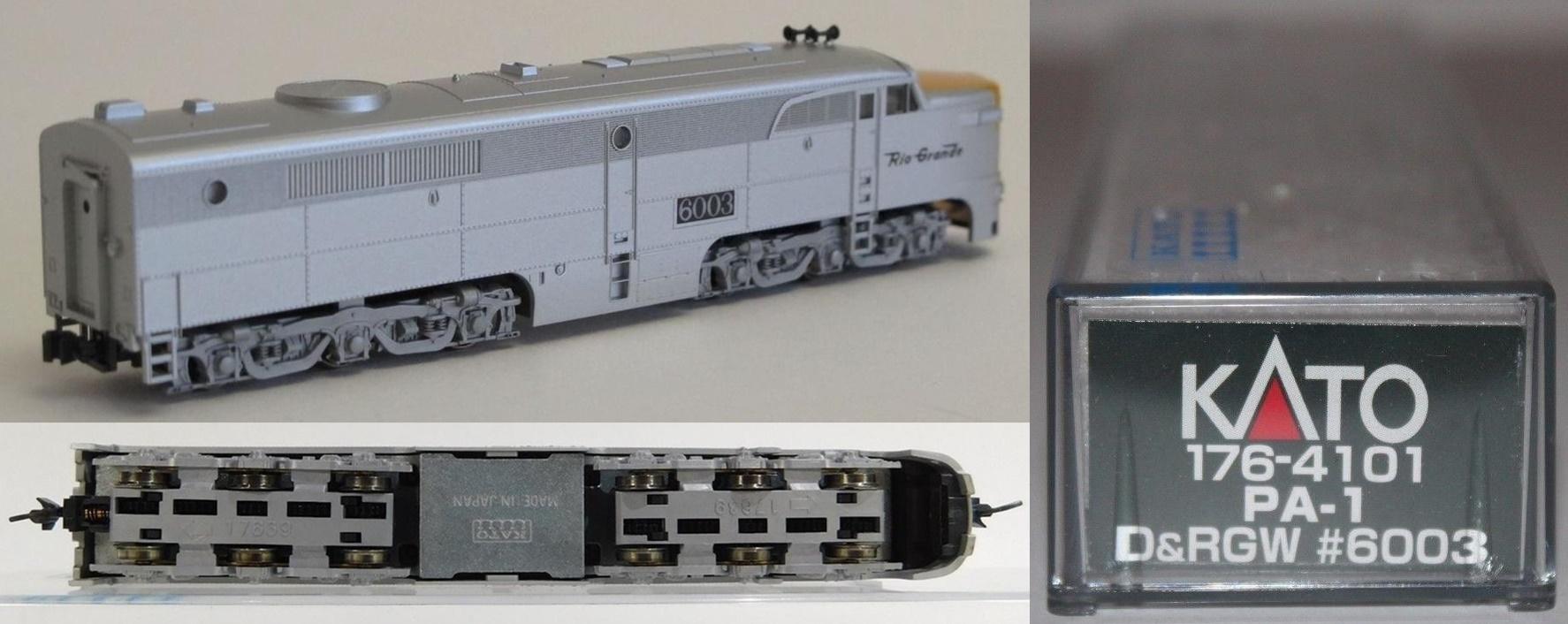 N Scale - Kato USA - 176-4101 - Locomotive, Diesel, Alco PA/PB - Rio Grande - 6003