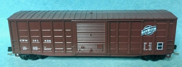 N Scale - Roundhouse - 8172 - Boxcar, 50 Foot, PS-1 - Chicago & North Western - 161838