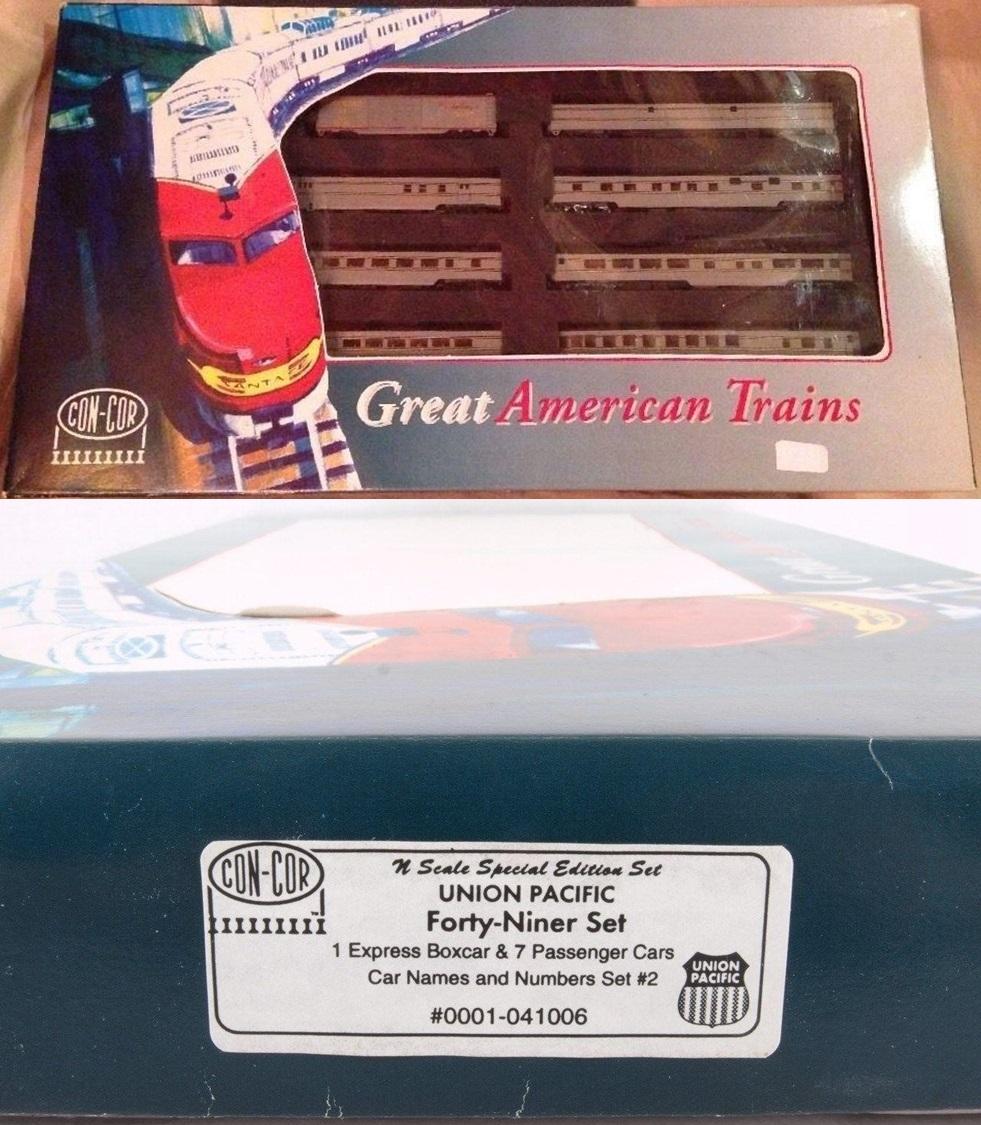 N Scale - Con-Cor - 0001-041006 - Passenger Car, North America, Transition Era Consist - Union Pacific - 8-Unit