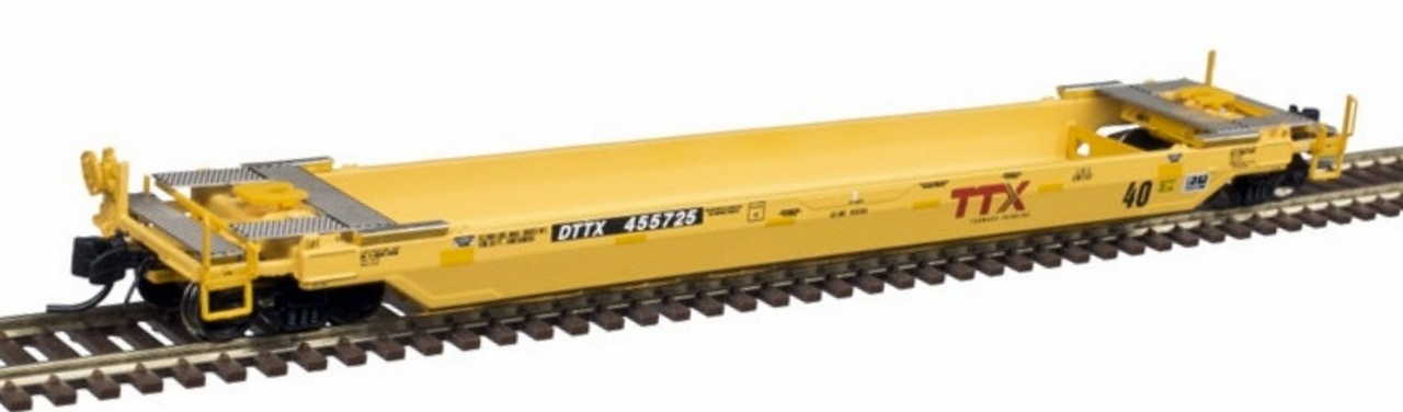 N Scale - Atlas - 50 003 736 - Container Car, Single Well, Gunderson TwinStack - Trailer Train - 459385