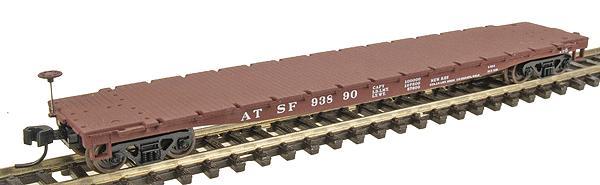 N Scale - Walthers - 932-8210 - Flatcar, 53 Foot 6 inch GSC Commonwealth - Santa Fe - 93890