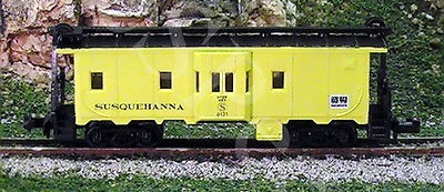 N Scale - Squeak N Products - 0014 - Caboose, Bay Window - Susquehanna - 0121