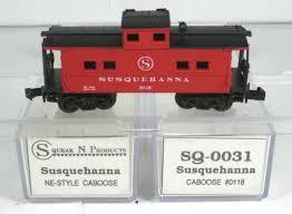 N Scale - Squeak N Products - 0031 - Caboose, Cupola, Steel, NE - Susquehanna - 0118