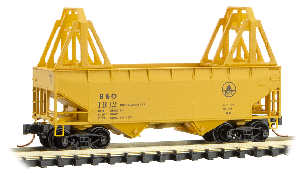 N Scale - Micro-Trains - 055 00 550 - Open Hopper, 2-Bay, Offset Side - Baltimore & Ohio - 1B12