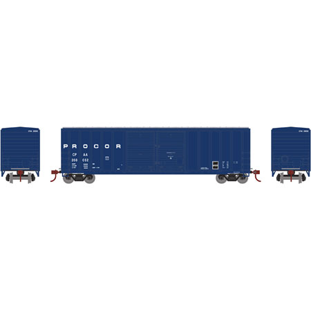 N Scale - Athearn - 17576 - Boxcar, 50 Foot, FMC, 5077 - Procor - 208019