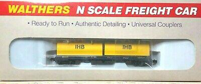 N Scale - Walthers - 932-8258 - Gondola, Steel Coil, Evans 48 Foot - Indiana Harbor Belt - 6011