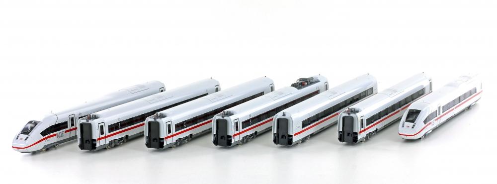 N Scale - Kato Lemke - 10-1512A - Passenger Train, Electric, ICE - Deutsche Bahn - 7-Car Set (9010)