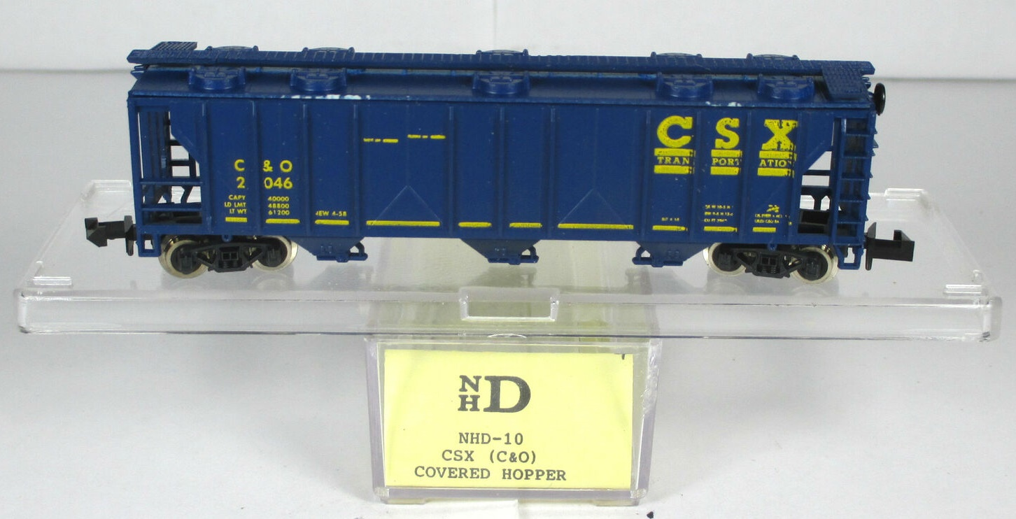 N Scale - N Hobby Distributing - 10 - Covered Hopper, 3-Bay, PS2 2893 - CSX Transportation - 2046