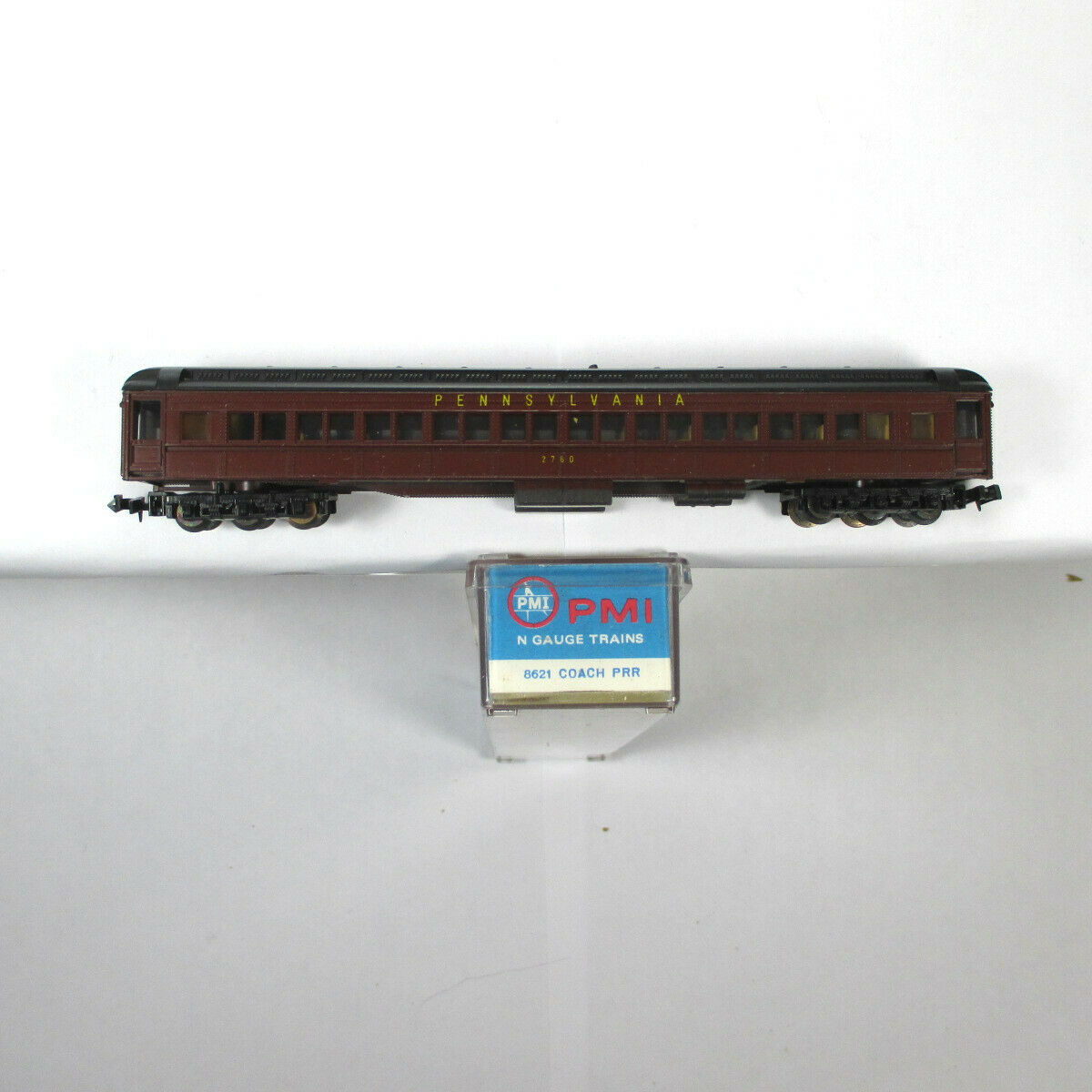 N Scale - PMI - 8621 - Passenger Car, Heavyweight, Pullman, Paired Window Coach - Pennsylvania - 2760
